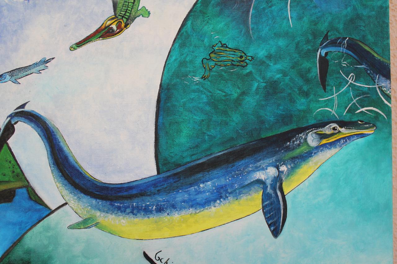 Détail - Monstres marins préhistoriques II